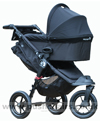 Baby Jogger City Elite Black with Deluxe Carrycot Black - click for larger image