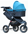 Baby Jogger City Elite Black with Deluxe Carrycot Teal - click for larger image