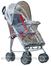 Maclaren Major Elite special needs pushchair with Storm Cover showing zippered access - click for larger image