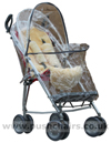 Maclaren Major Elite special needs pushchair with Lambskin Comfort Liner & Storm Cover showing zippered access - click for larger image