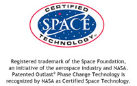 Outlast Genuine Space Technology  - click to visit the Space Foundation, Space Certification Program website