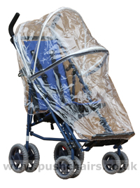 Storm Cover for a Shuttle special needs pushchair - click for larger image