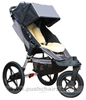 Baby Jogger City Summit, seat upright with Lambskin Stroller Fleece - click for larger image