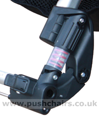Baby Jogger Summit 'Sprung Hinge' Rear Wheel Suspension unit - click for larger image
