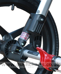 Baby Jogger Summit Rear Wheel Suspension (loaded) - click for larger image