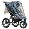 Baby Jogger City Summit, seat upright with Rain Cover - click for larger image
