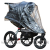 Baby Jogger Summit XC, seat reclined with Rain Cover - click for larger image