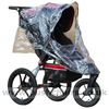 Baby Jogger Summit XC with Rain Cover showing Zippered Opening - click for larger image