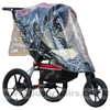 Baby Jogger Summit XC with with Lambskin Stroller Fleece & Rain Cover - click for larger image