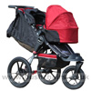 Baby Jogger Summit XC with Compact Carrycot Red - click for larger image