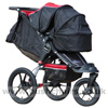 Baby Jogger Summit XC with Compact Carrycot & Pushchair Hoods together - click for larger image