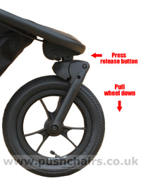 Baby Jogger Summit X3 Front Wheel - click for larger image