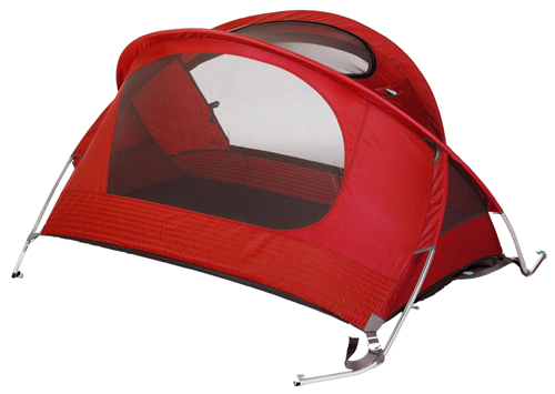 Nomad Travel Bed Poppy Red with optional Sleeping Bag